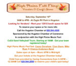 High Plains Fall Fling Vendor & Craft Show