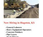 Now Hiring in Hugoton, KS